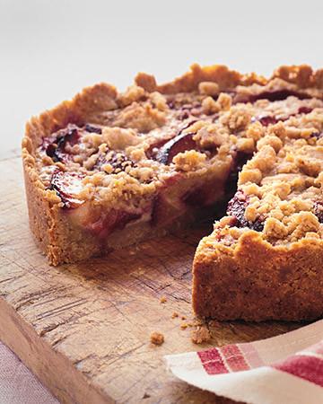 Raspberry-Plum Crumb Tart