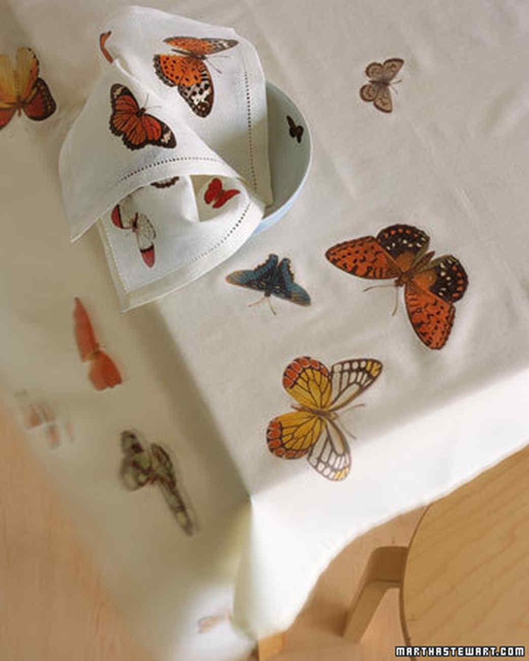 Butterfly Table Linens
