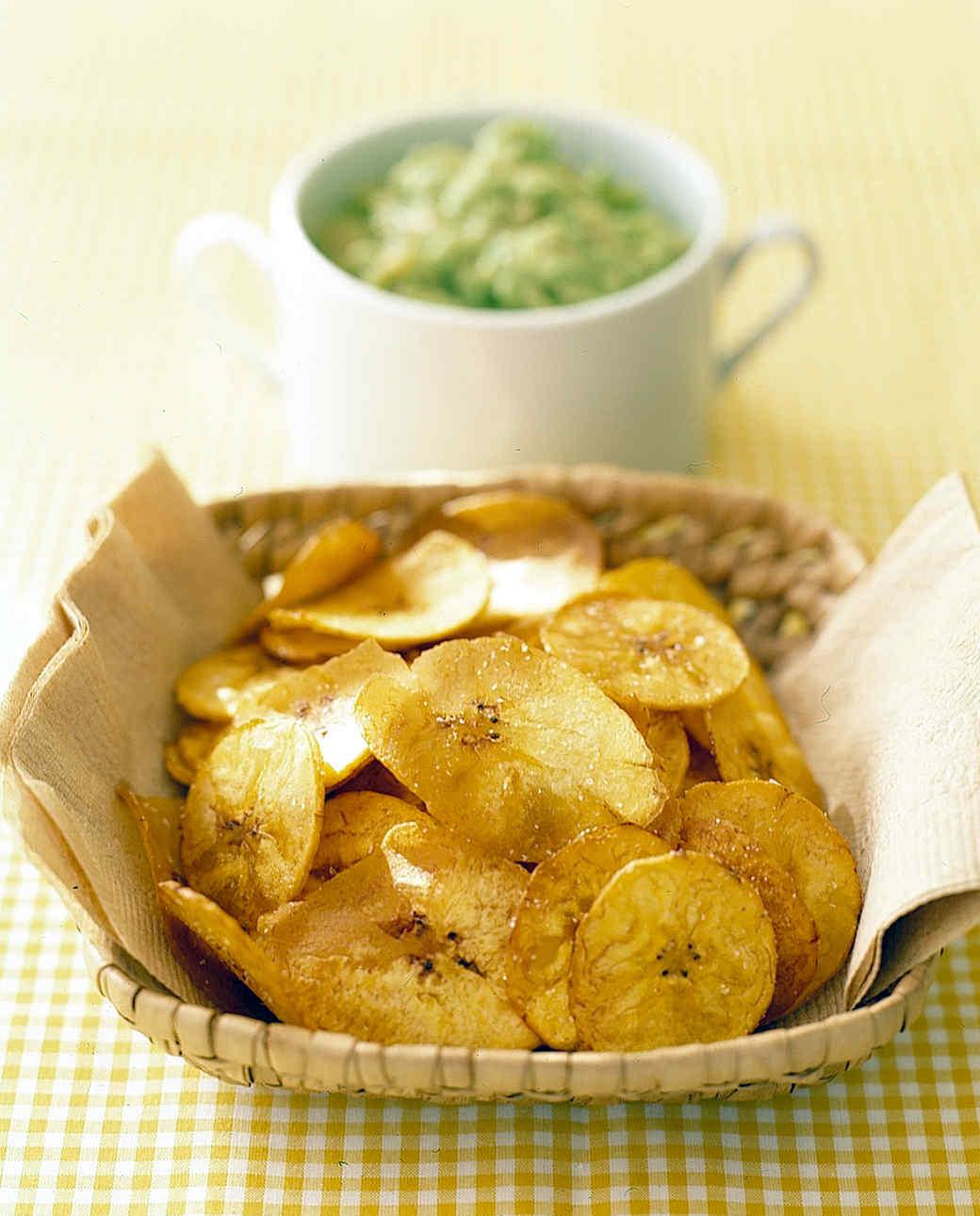 Banana Avocado Dip with Plantain Chips