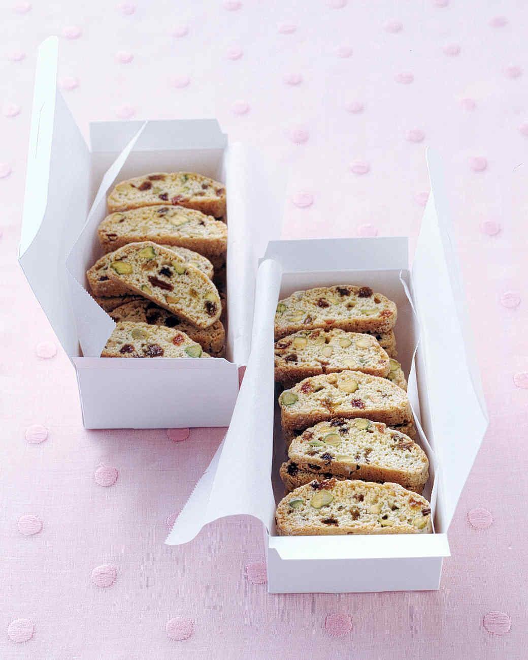 Pistachio-Raisin Biscotti