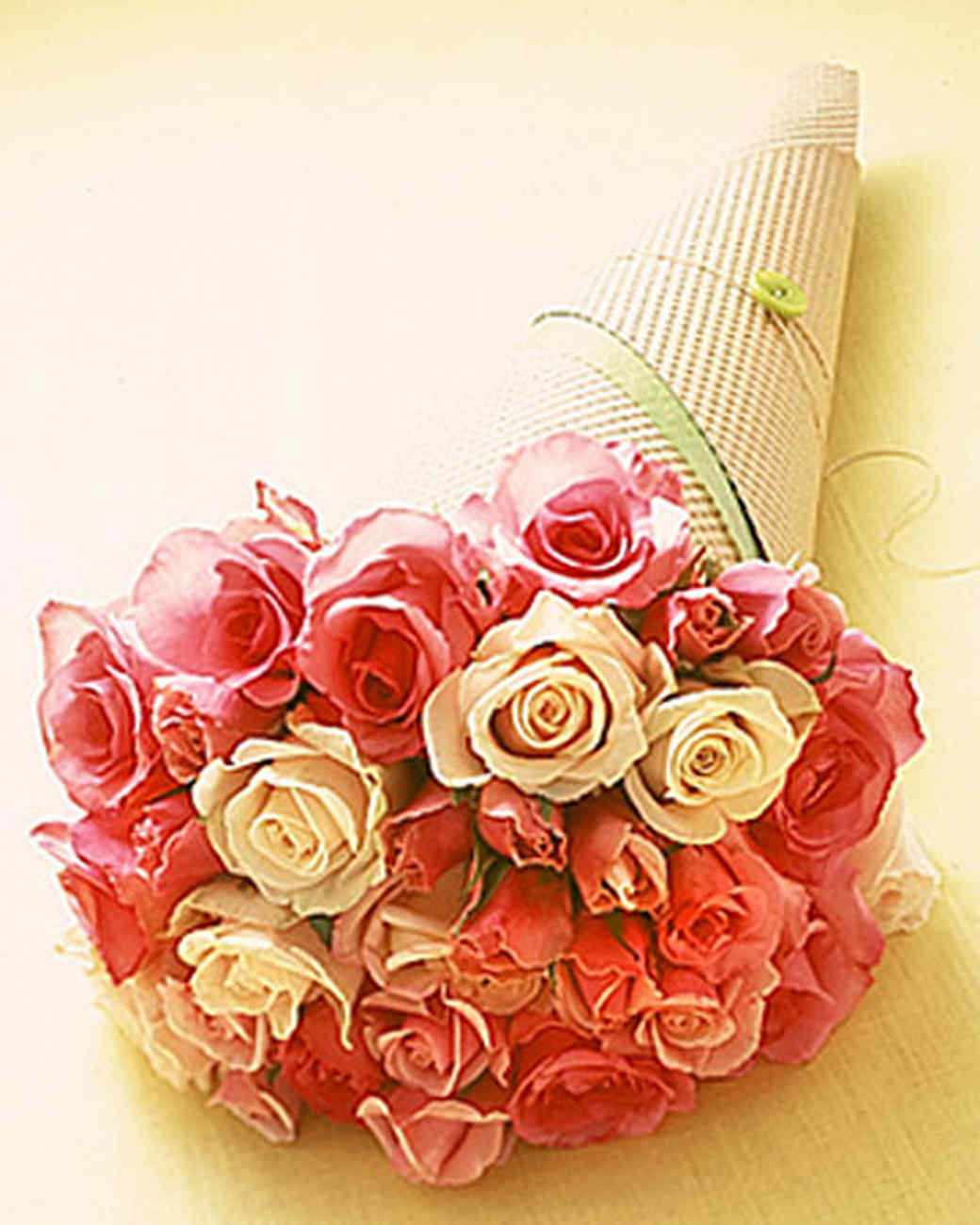 Wrapping flowers martha stewart each idea is tailored to different flowers for example the ribbon carrier is great for smooth stemmed blooms the corrugated paper of the buttoned mightylinksfo