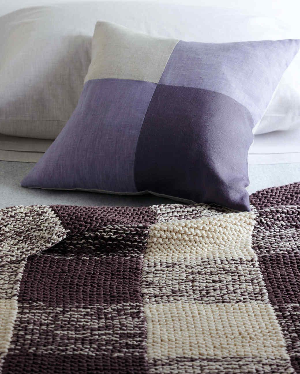 gingham knit blanket