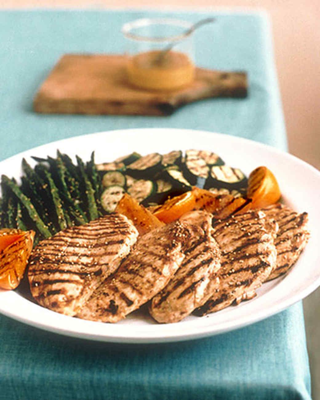 Grilled Orange Sesame Chicken and Vegetables