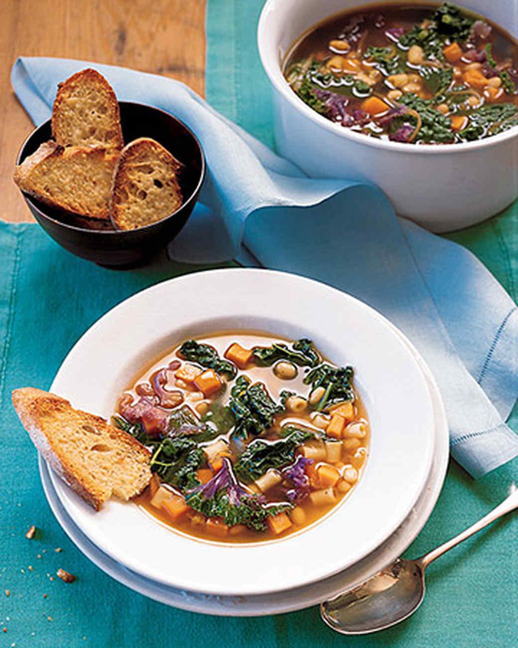 Kale, White Bean, and Sweet Potato Soup