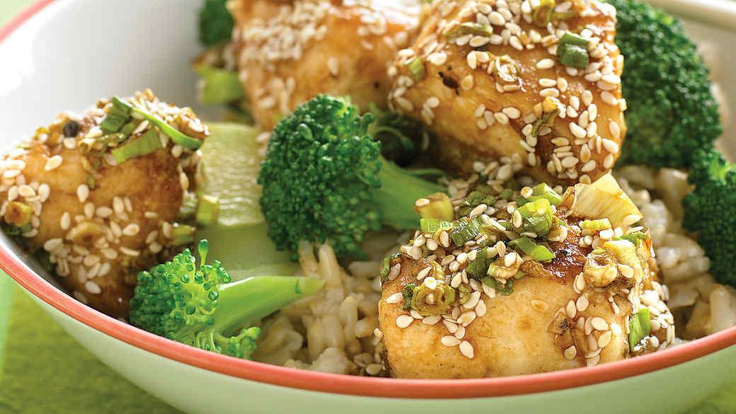 Lighter Sesame Chicken Recipe Video Martha Stewart