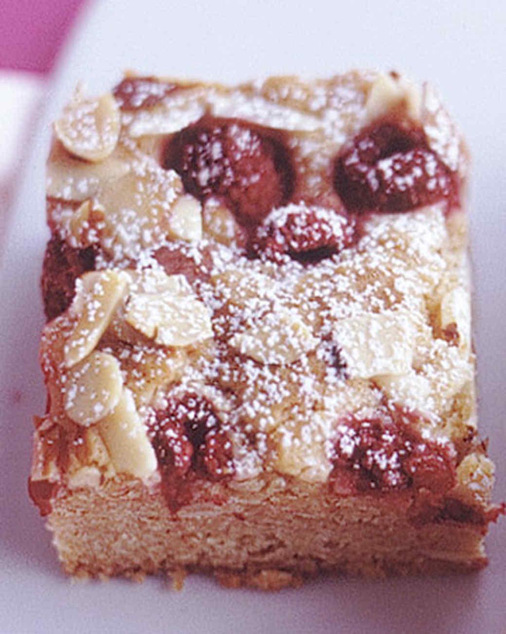 Raspberry-Almond Blondies