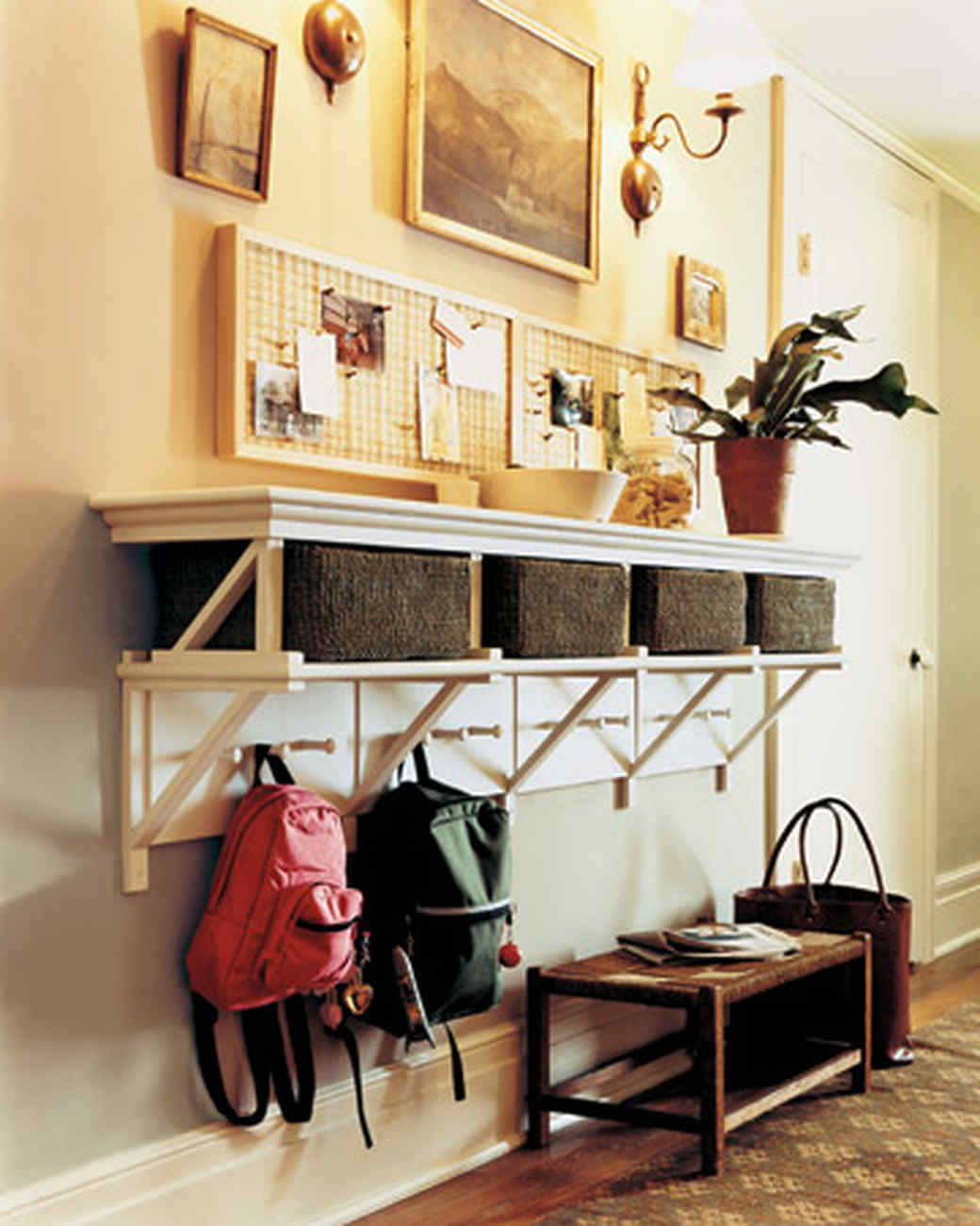 entryway organizing ideas | martha stewart