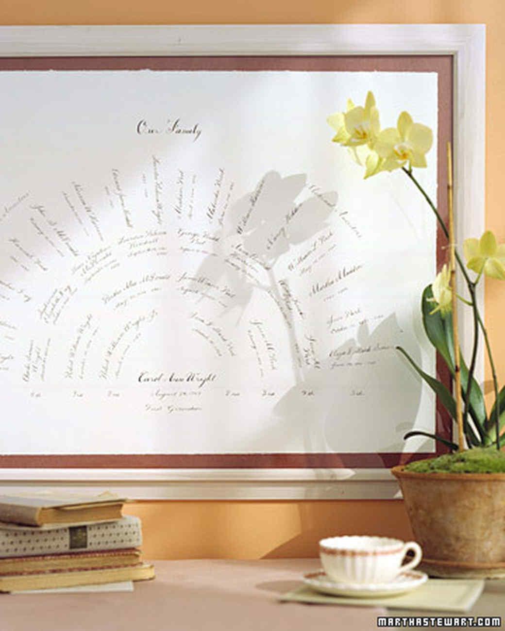 family tree fan chart martha stewart