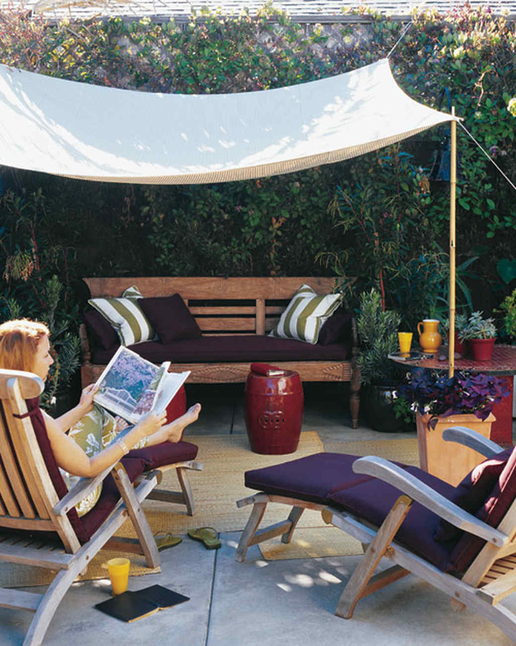 a slice of shade: creating canopies | martha stewart