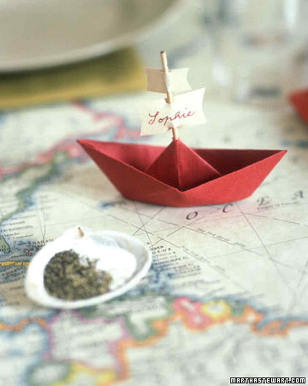 Boat Place Card
