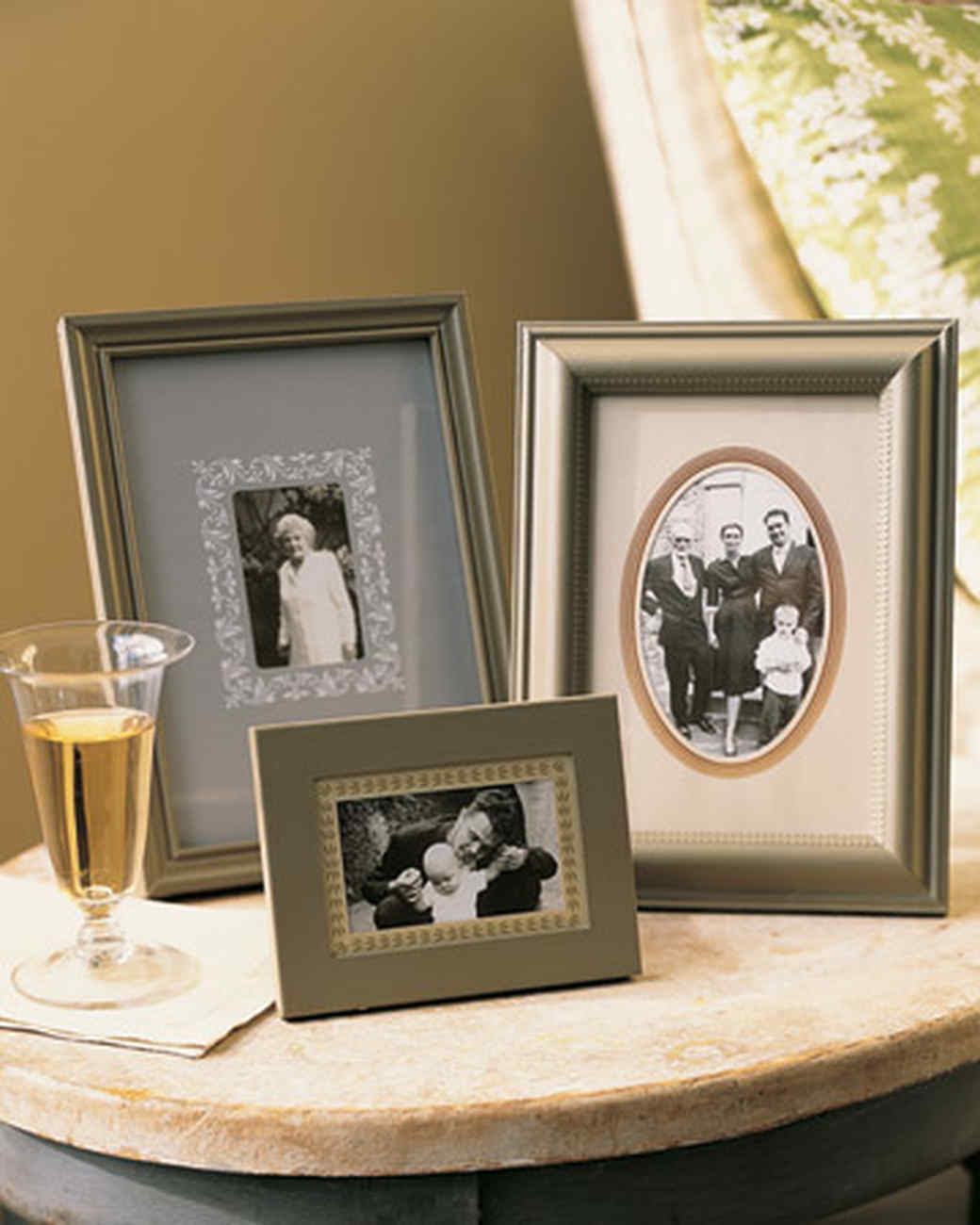 photo frame ideas martha stewart - Picture Frame Design Ideas