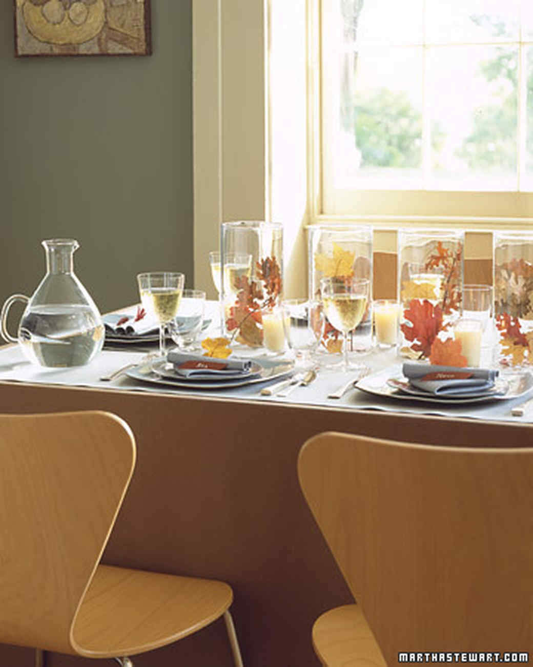 : setting thanksgiving table - pezcame.com