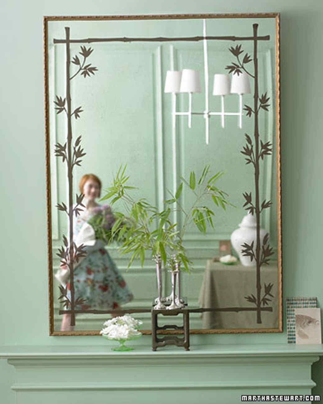Leaf-Stencil Mirror