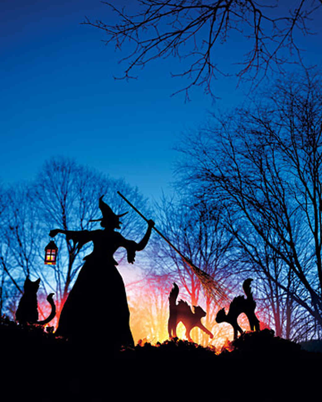 witch and cat lawn ornaments martha stewart