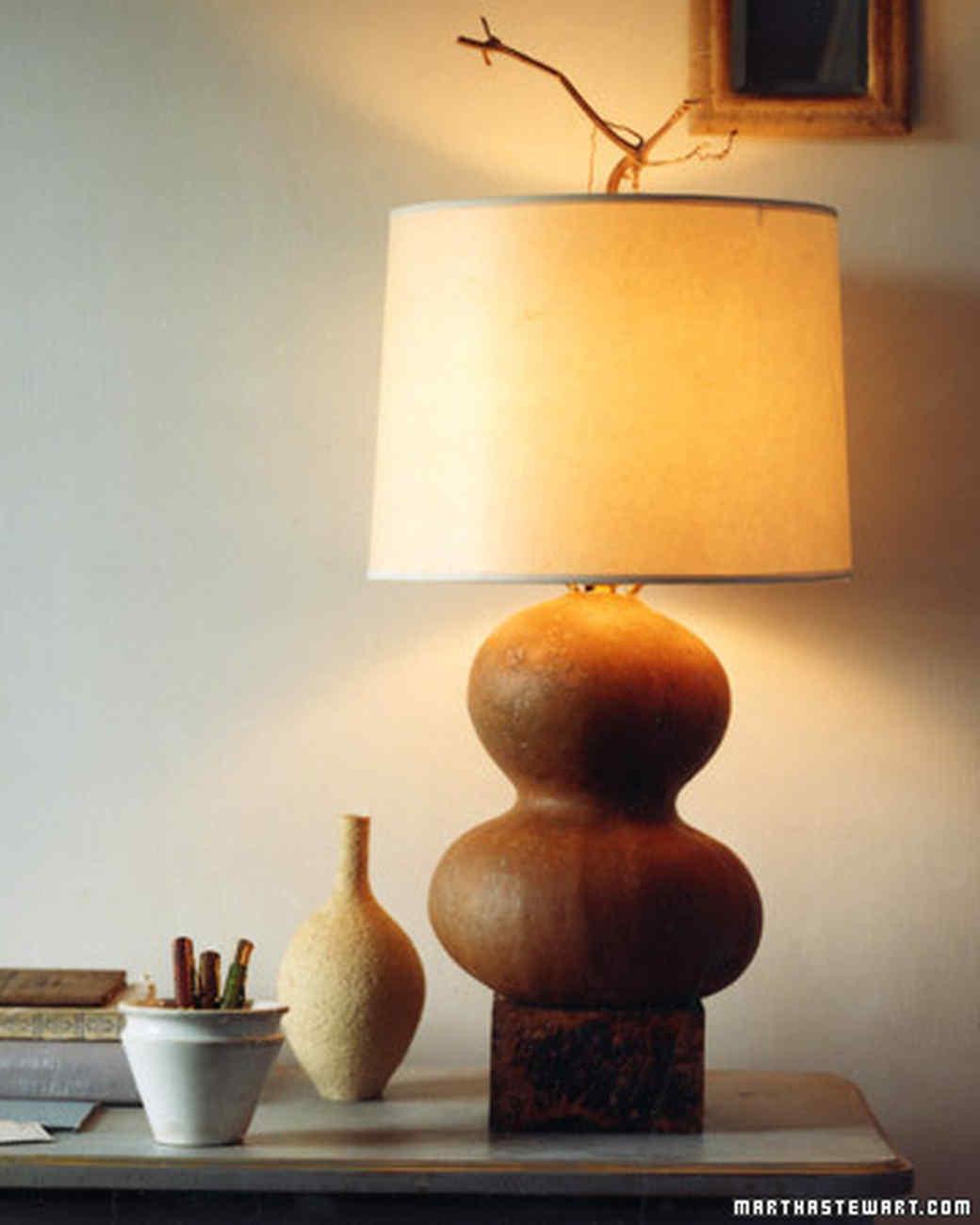 Lighting to live by martha stewart gourd lamp aloadofball Gallery