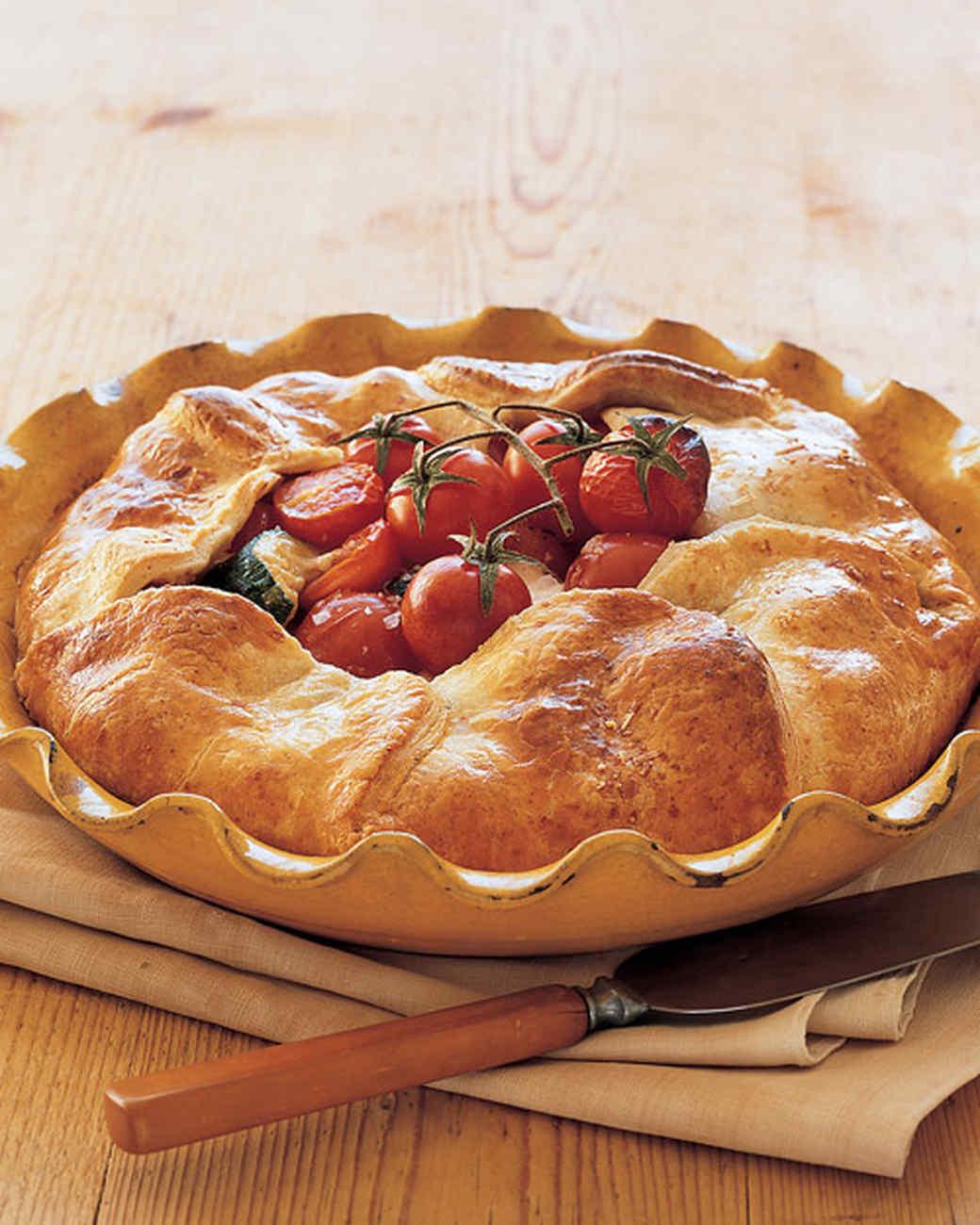 Cherry Tomato, Bocconcini, and Zucchini Pie