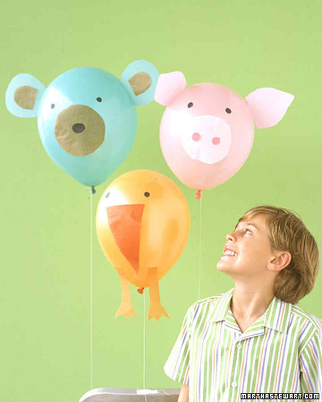 Balloon animals martha stewart for Balloon decoration for kids