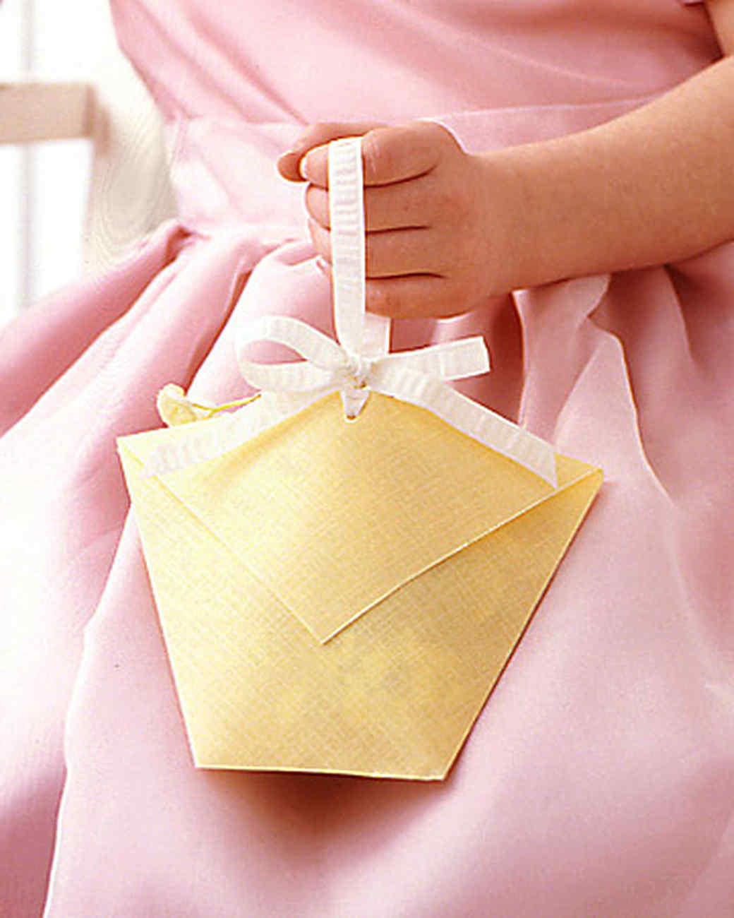 Flower Girl's Paper Basket