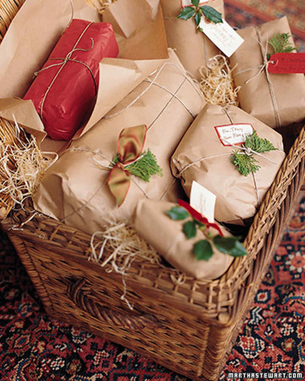 Xmas gift wrap packages