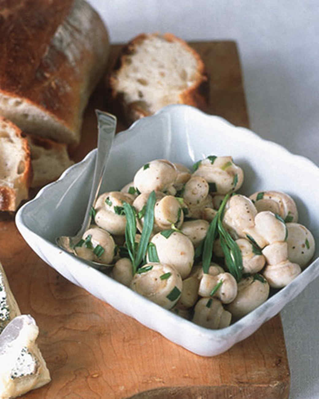Tarragon-Marinated Mushrooms