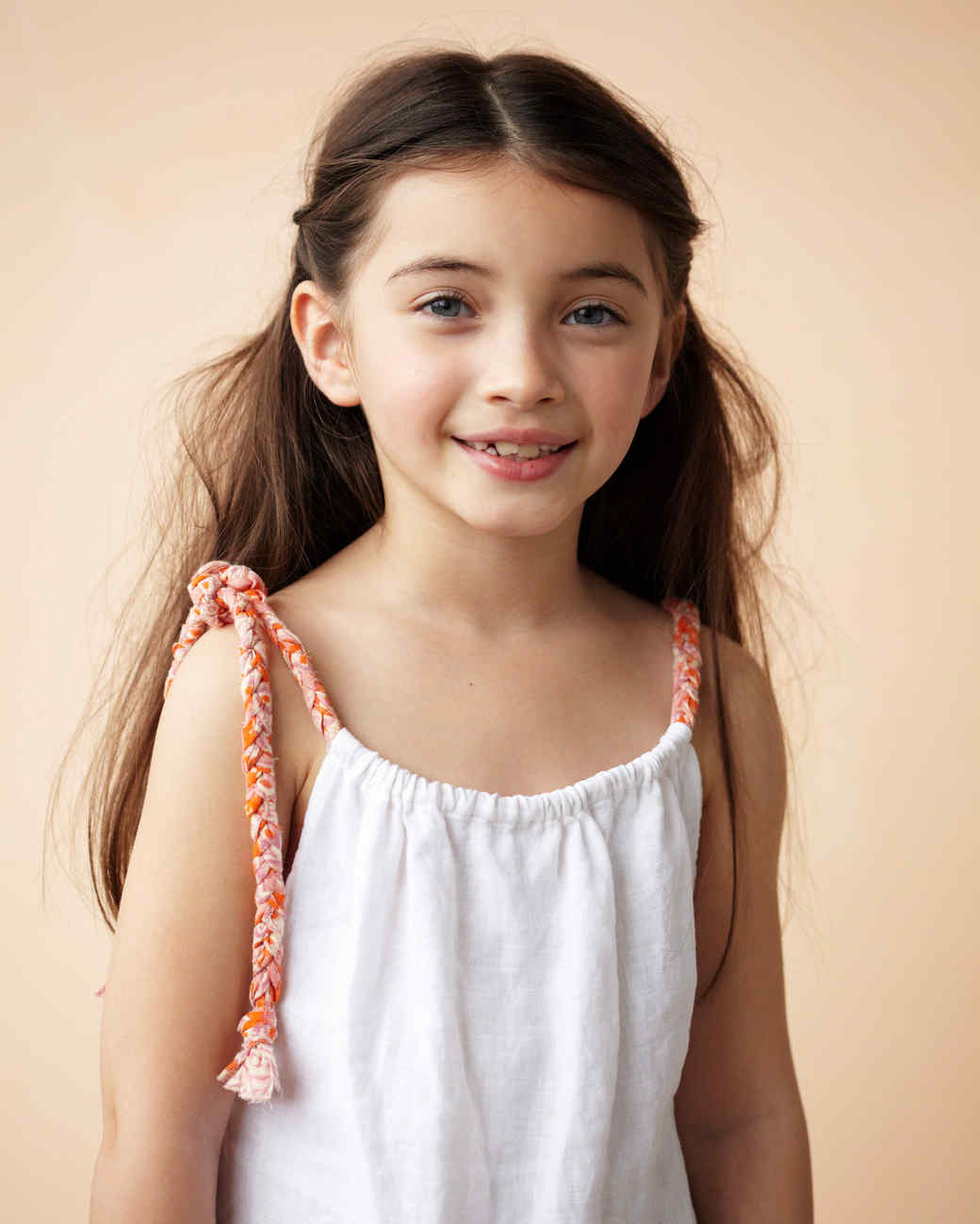 girl in braided dress