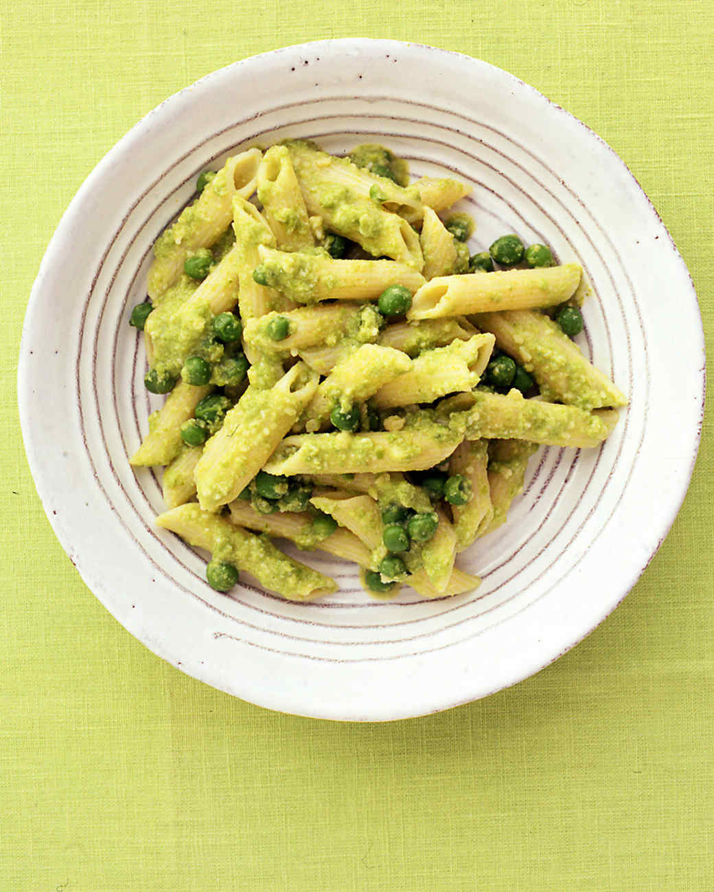 Pasta with Almond-Pea Pesto