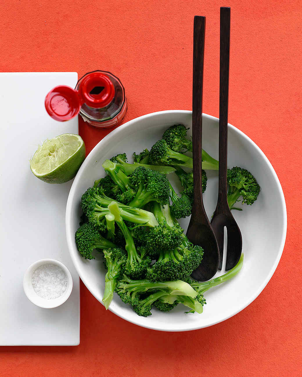 Steamed Broccoli With Lime Dressing
