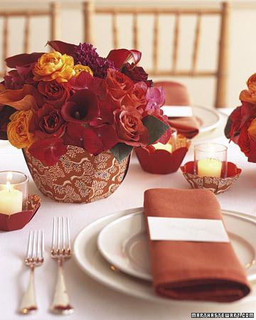 Paper bowl centerpieces martha stewart