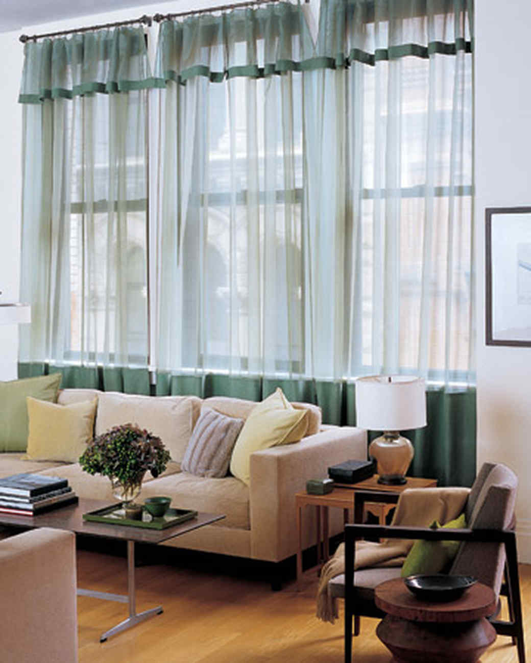 Linen-Trim Curtains | Martha Stewart