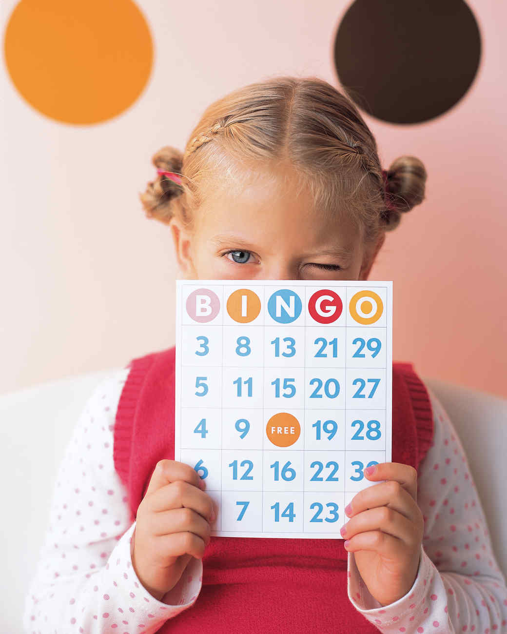 Polka-Dot Party Bingo Game