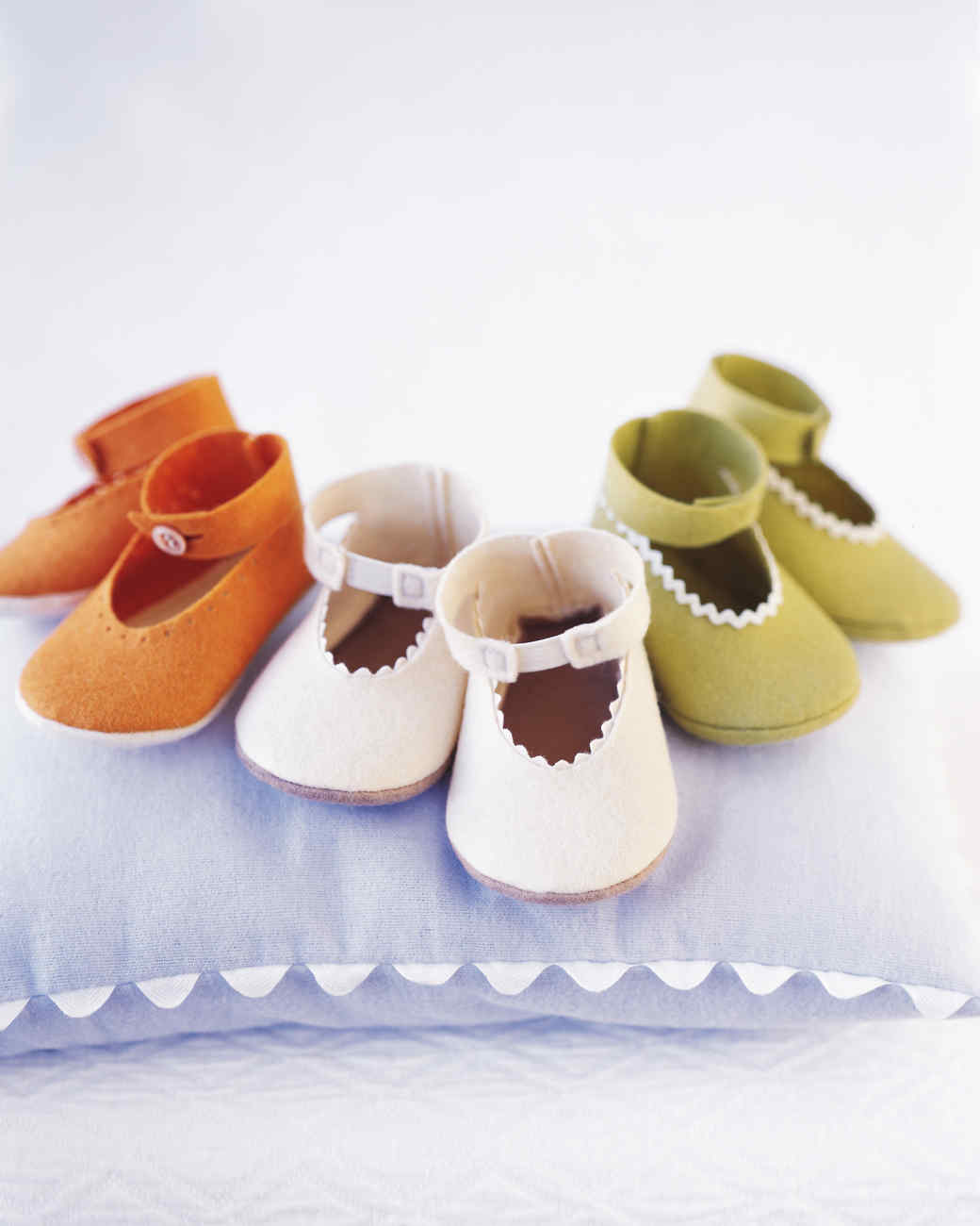 ea3637a78e93a Felt Baby Shoes | Martha Stewart