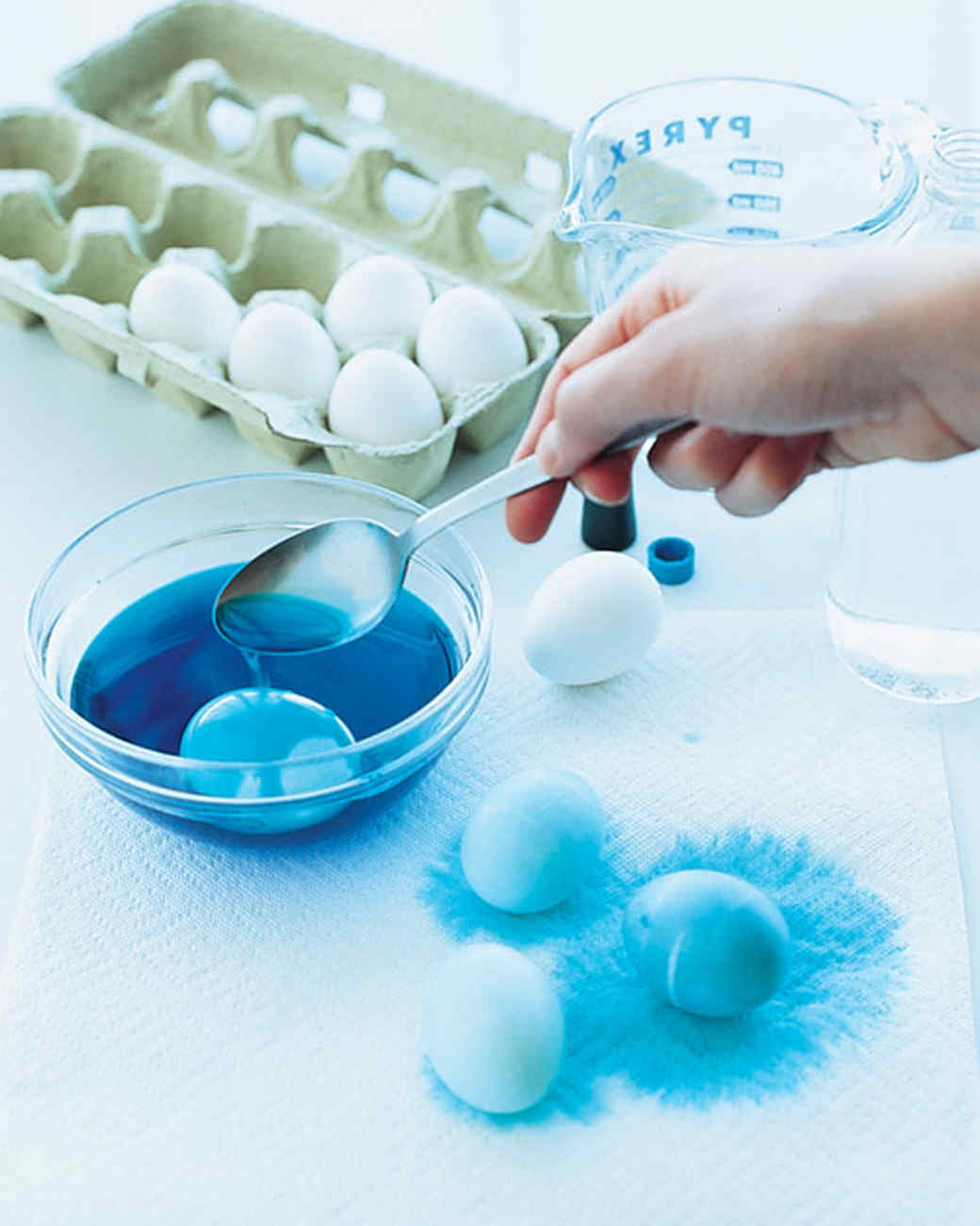 How to make marbleized easter eggs martha stewart steps 1 and 2 negle Image collections