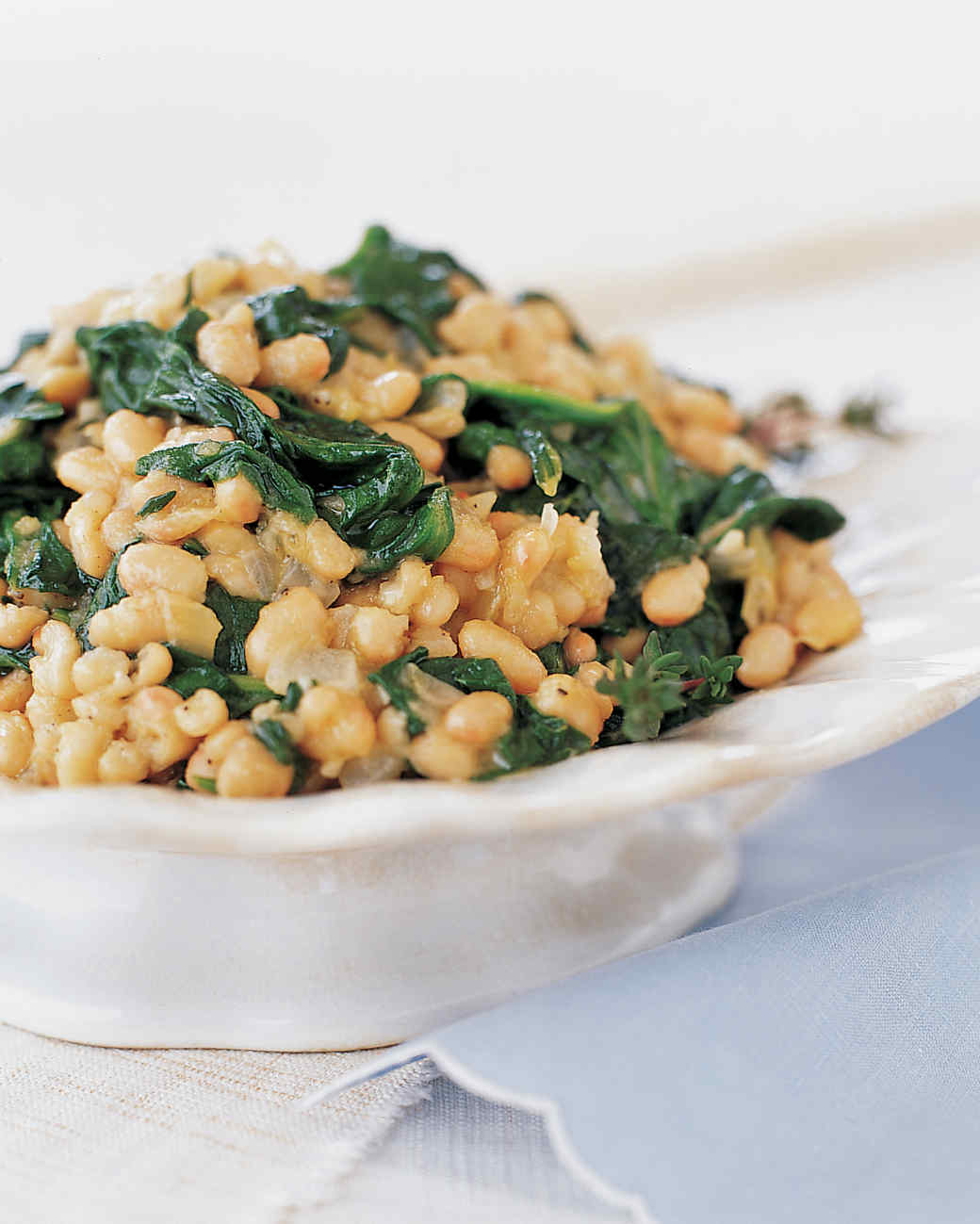 Sauteed Spinach and White Beans