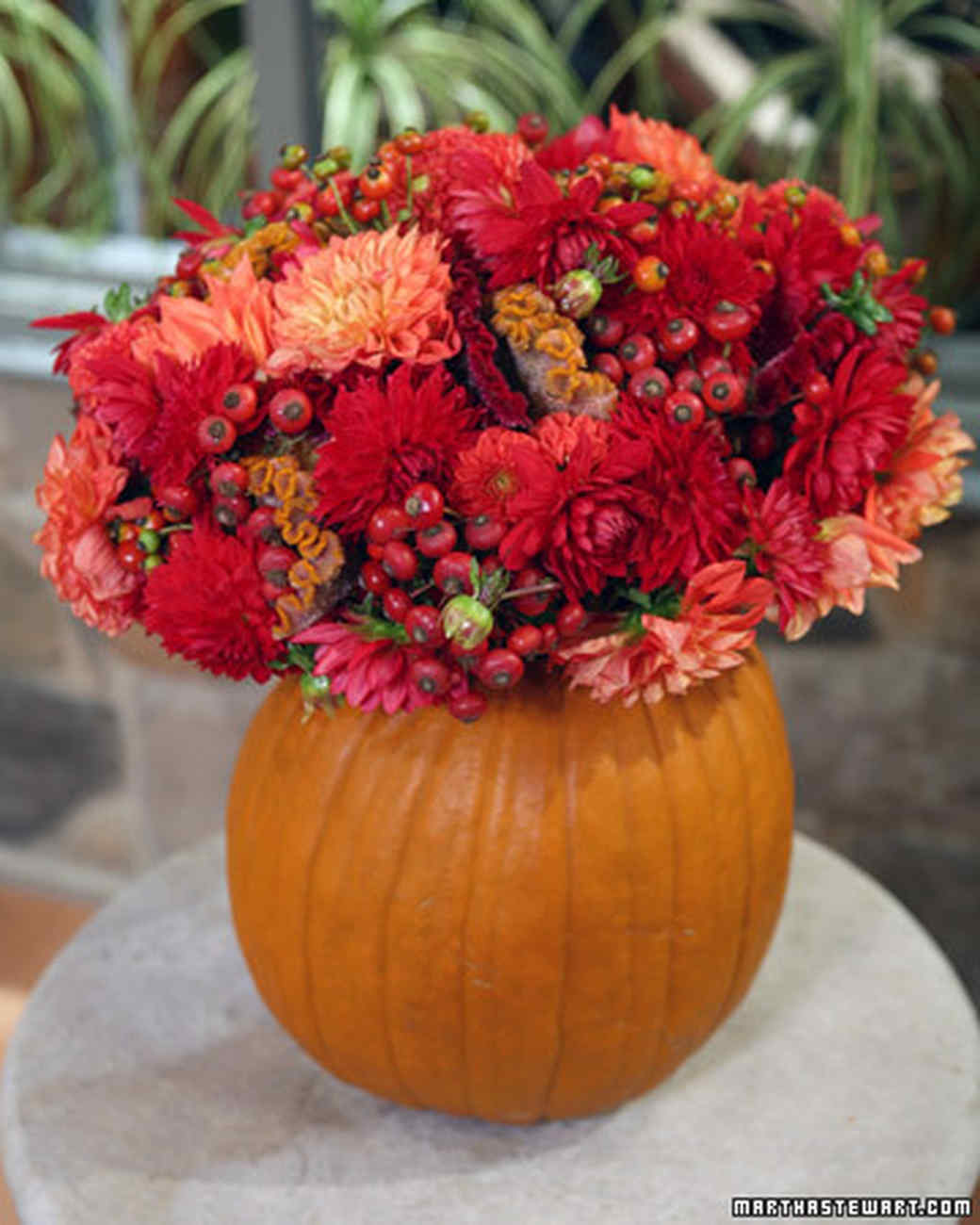Pumpkin Flower Vase Amp Video Martha Stewart