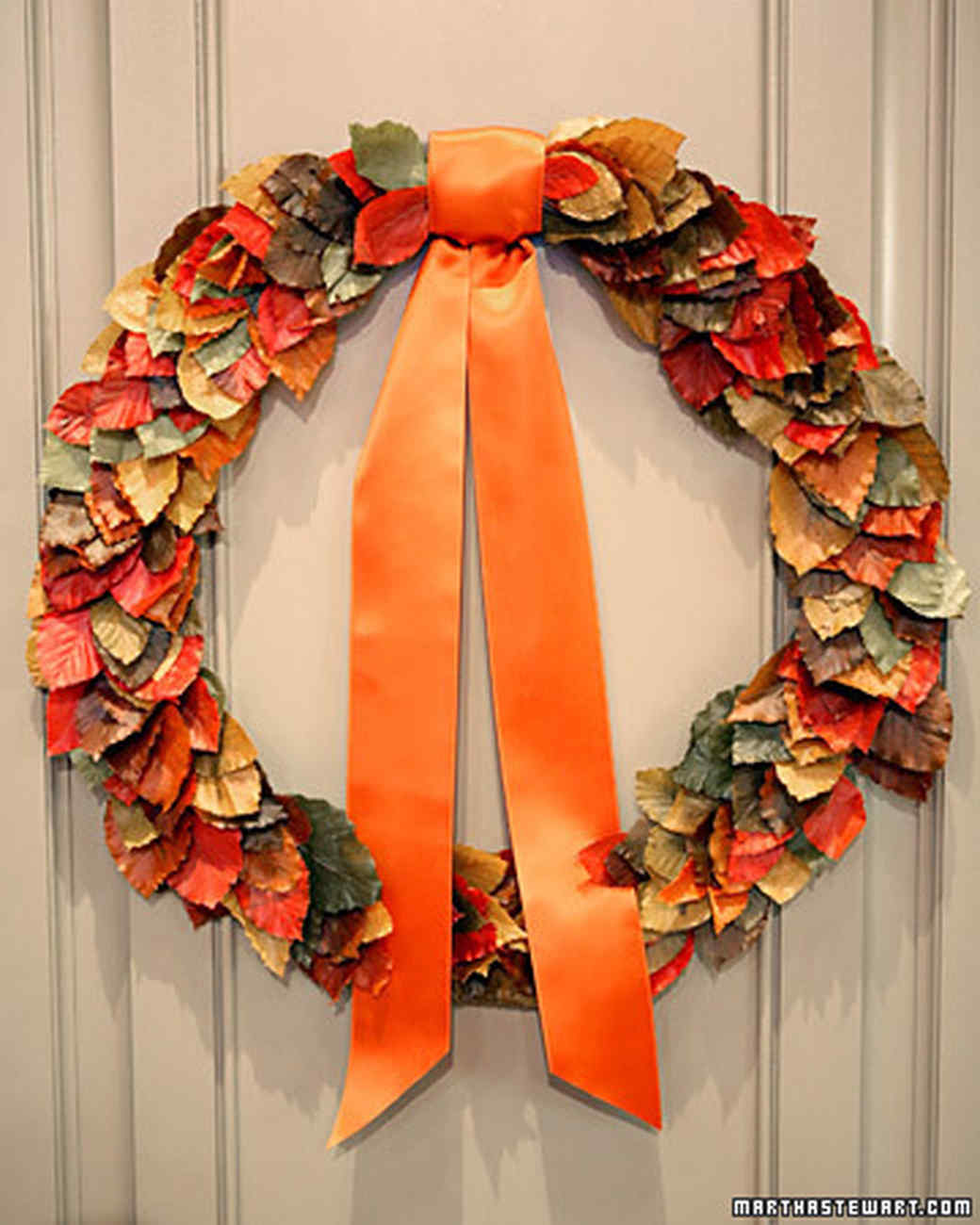 Autumnal wreath video martha stewart for Fall craft ideas for seniors