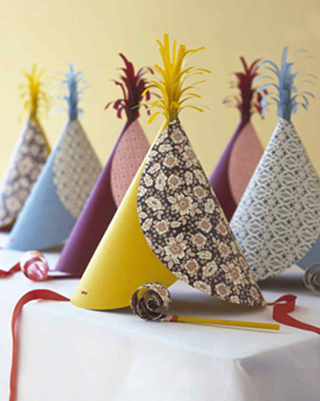 Pattern Blocked Party Hats