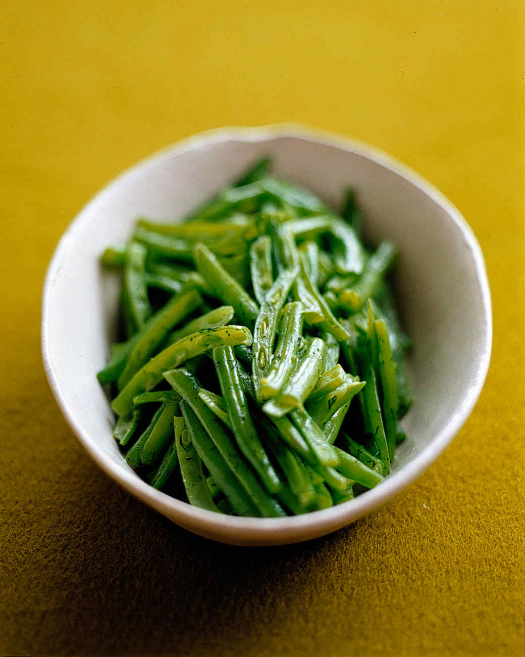 French-Cut Green Beans With Dill Butter