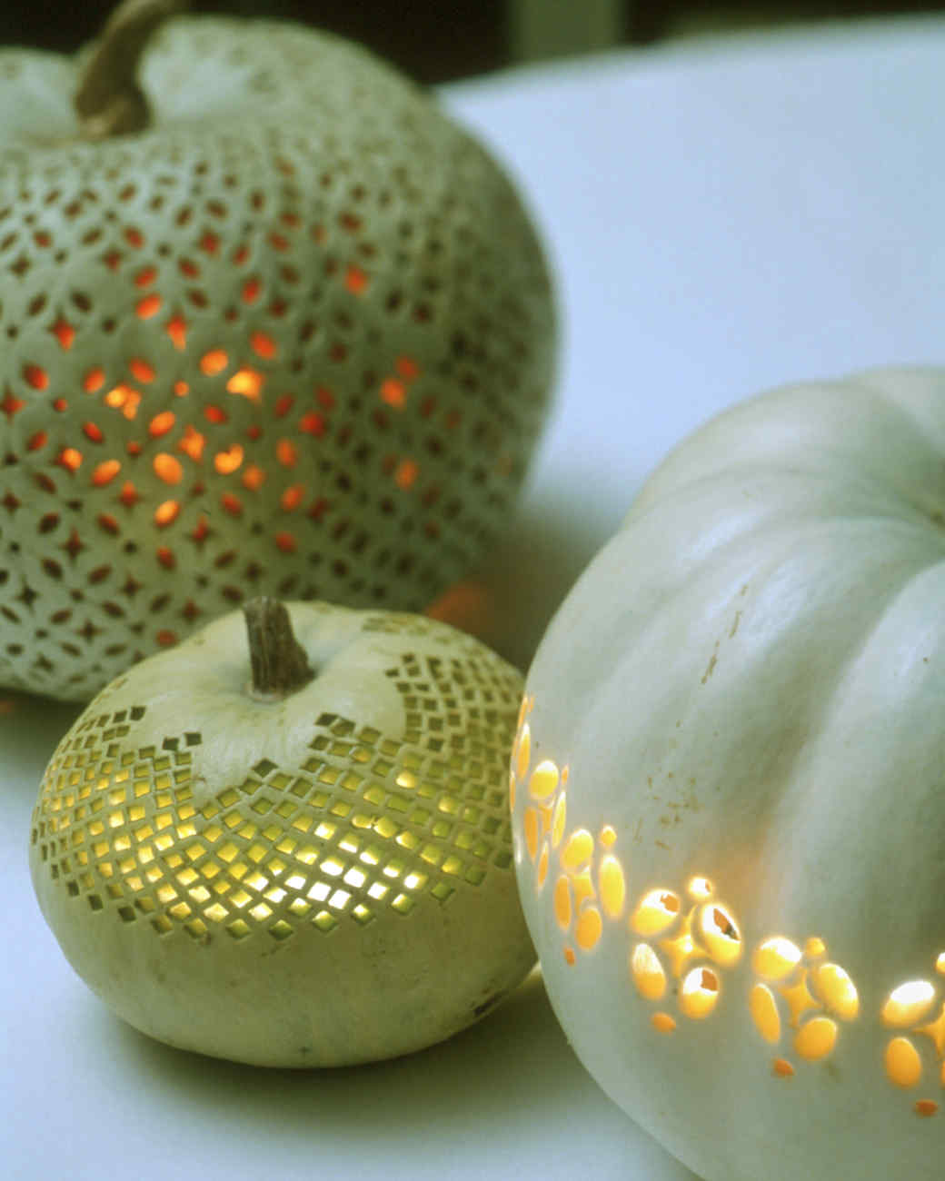 lace-patterned pumpkins | martha stewart