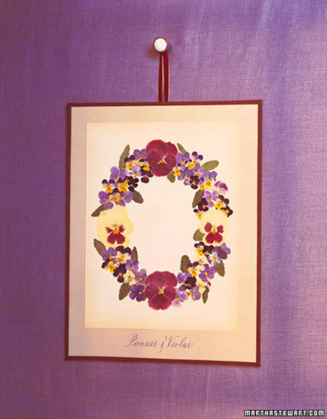 Pansy and Viola Wreath