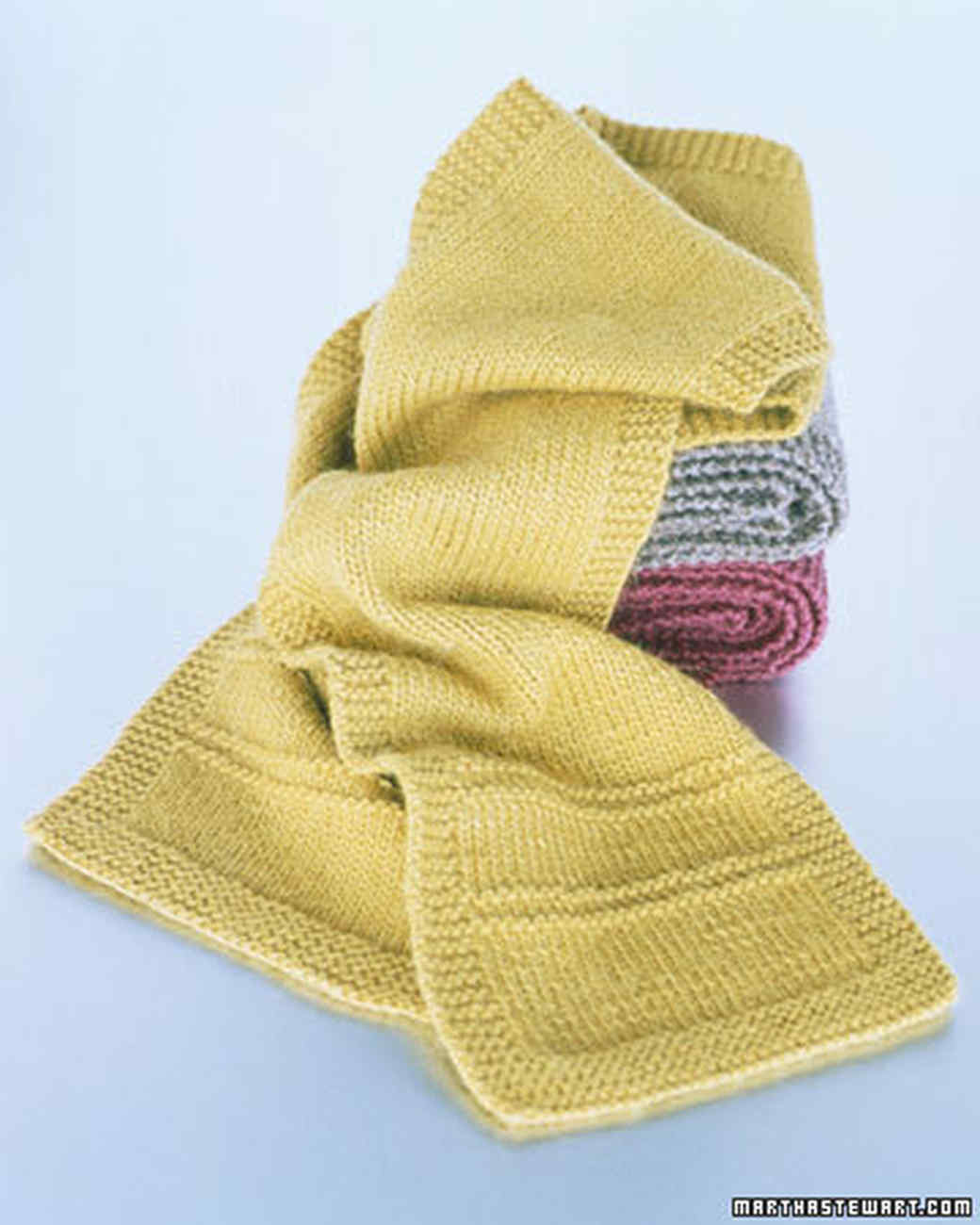 Basic Knitting Scarf Patterns : Basic Scarf Pattern Martha Stewart