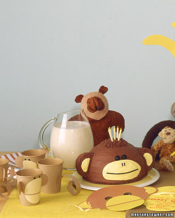 Monkey Party Decorations Video Martha Stewart