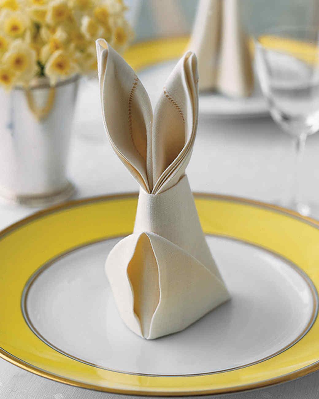 Bunny Fold for Napkins
