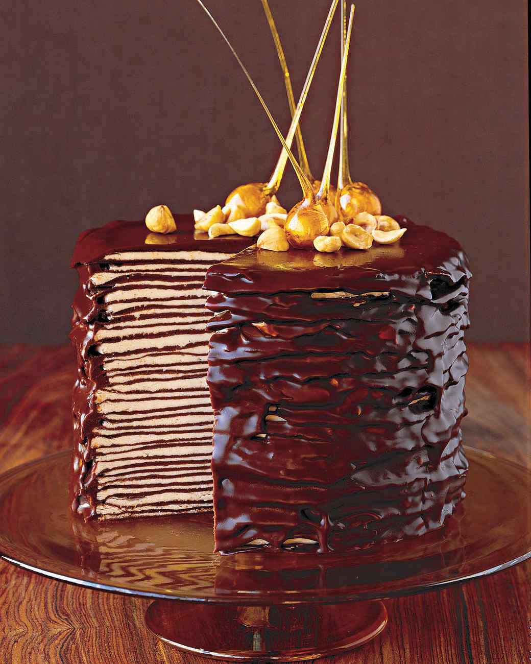Darkest Chocolate Crepe Cake Recipe | Martha Stewart