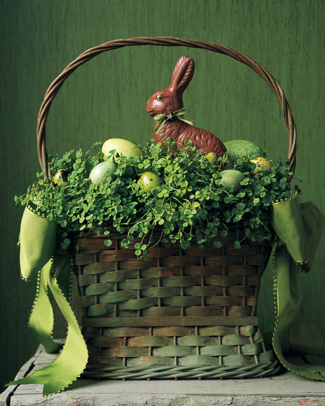 Clover and eggs basket martha stewart clover and eggs basket negle Images