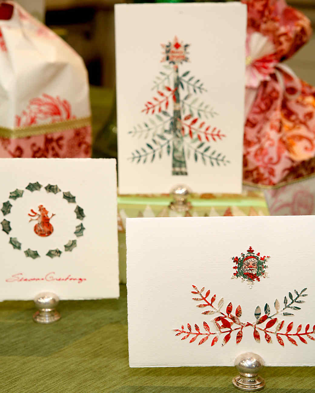 Punched Holiday Cards
