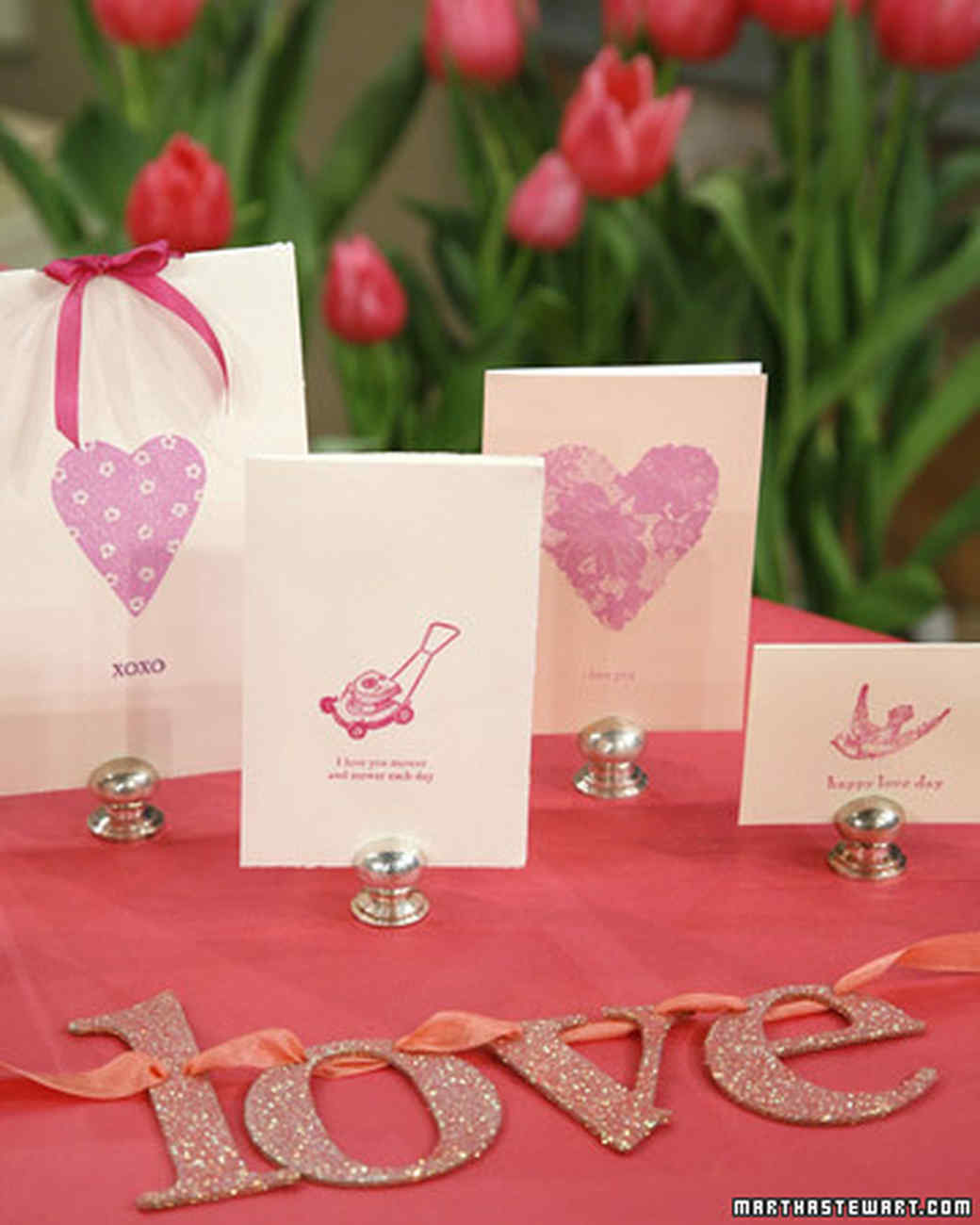Valentine's Day Glittered Greeting Cards