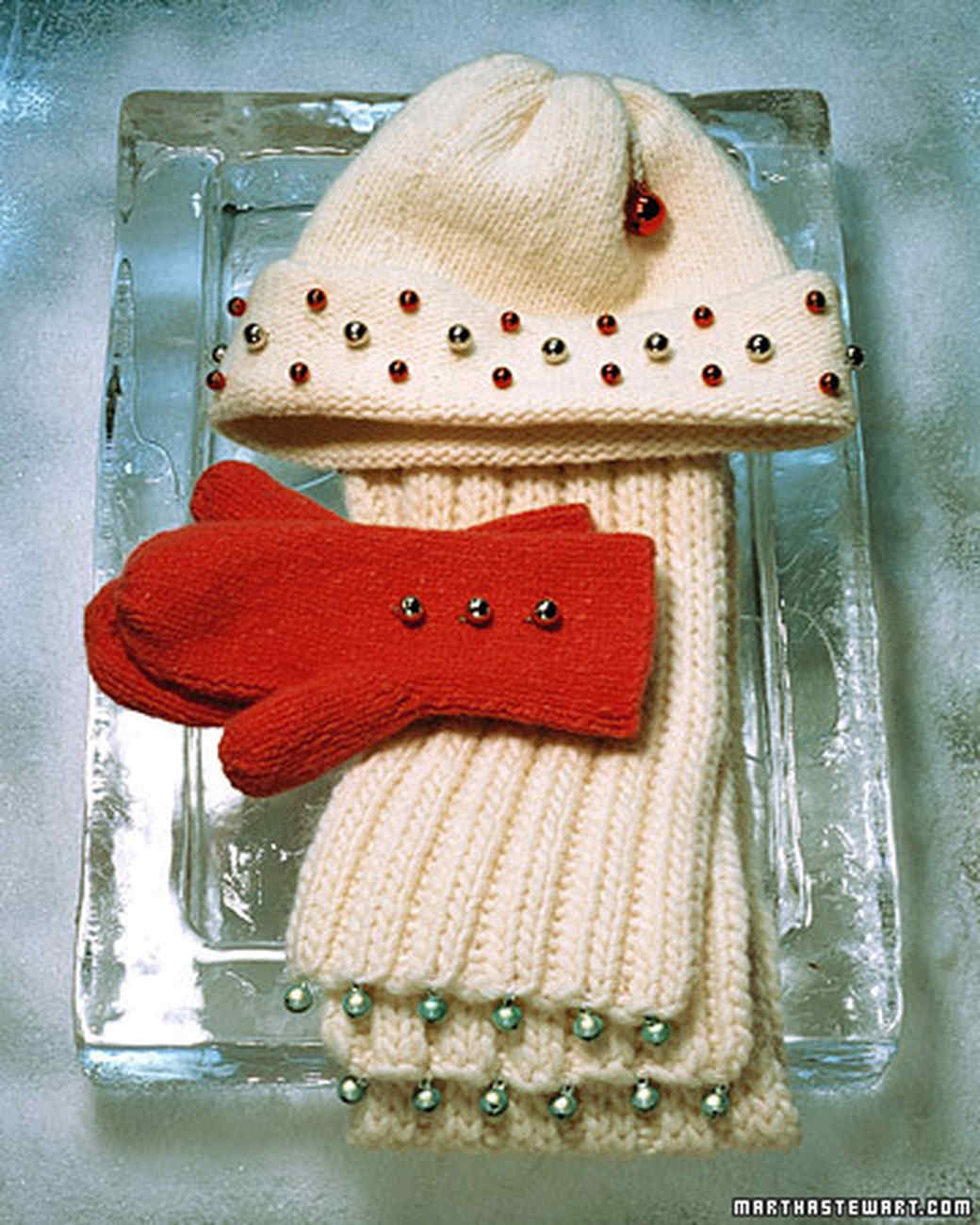 Bell Scarves, Hats, and Mittens