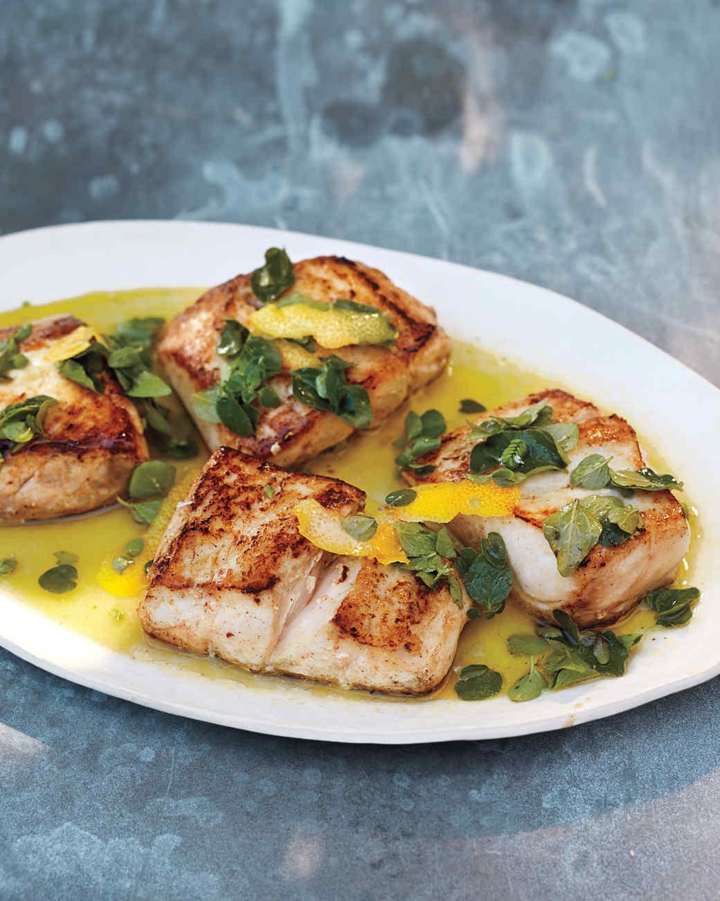 Snapper with oregano recipe martha stewart for Snapper fish recipes