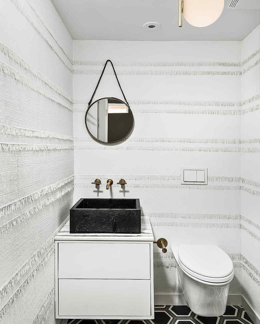 fringed bathroom