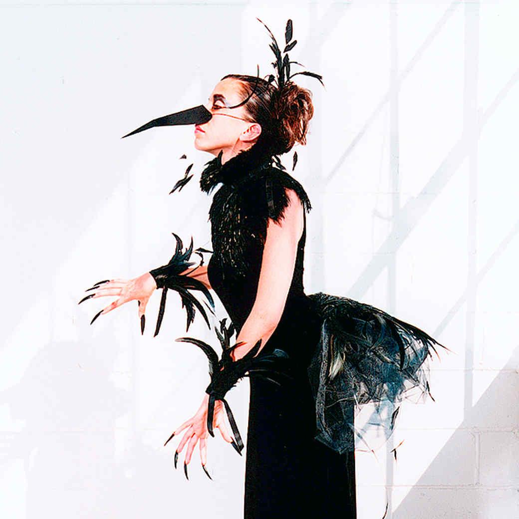 No Sew Costume Raven Bird Costume